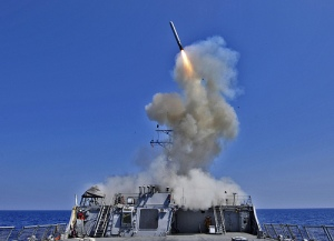 USS Barry fires Tomahawk missiles